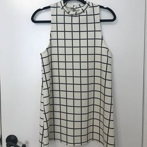 Urban Outfitters- White Grid Tunic Dress